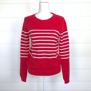 NEW Gap Striped Knit Crew Neck Sweater Small